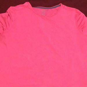 Neon pink workout shirt